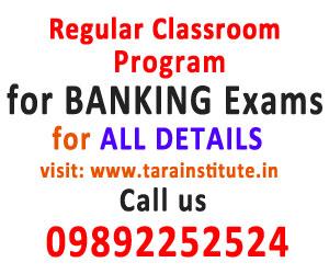 Regular Classroom Program for Banking Exams