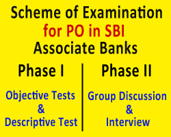 Scheme of Examination for PO in SBI Associate Banks