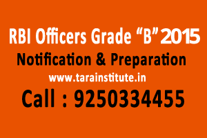 RBI Officers Grade B 2015 Notification Preparation